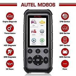 Autel MD806 obd2 Diagnosegerät, vollständig EOBD Funktion und Vier System Diagnosen(ABS,Motor,Getriebe,SRS),Öl,SAS,BMS Reset Funktion,Drosselflügel Regeln und Filtergeneration(DPF)