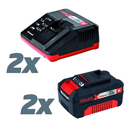 Einhell 8-faches Power X-Change Starter Set (inkl. Akku-Rasenmäher, Bohrschrauber, Laubbläser und Lampe, 2 x 18 V Akkus 3,0 Ah, 2 Schnell-Ladegeräte)