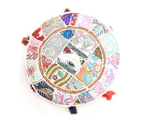 indischen Euro Sham Outdoor Kissen Überwurf Vintage Banjara Multi Farbe Gorgeous Ethnic handgefertigt Bodenkissen Boho sortiert Patchwork Gypsy Spiegel Arbeit bestickt rund Kissenbezug