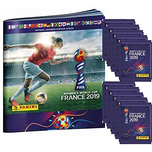 Unbekannt Panini Frauen WM 2019 - Sammelsticker - 1 Album + 10 Tüten (Fußball-wm-sticker)