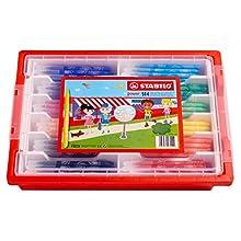 Felt Tip Pen - STABILO power wallet of 144 assorted colours