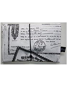 Büroteuse Tabaktasche / Drehertasche im old Postcard-Design, jede Tasche ein Unikat!