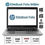 HP FOLIO 9480M QUAD CORE i5 8GB HDD 180gb ssd ultrabook (Ricondizionato Certificato)