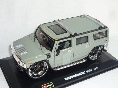 Hummer H2 H 2 Suv Grau 1/32 Bburago Burago Modellauto Modell Auto