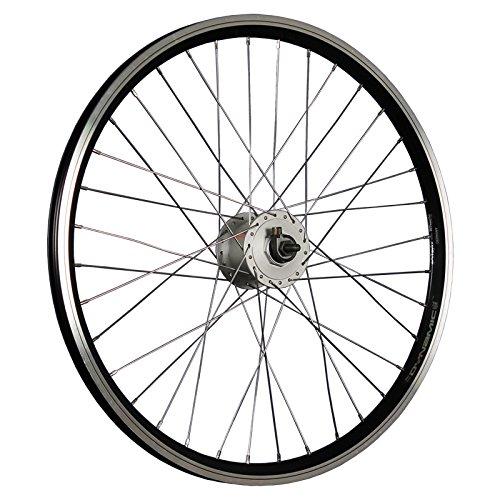 Taylor-Wheels 24 Zoll Vorderrad Dynamic4 Shimano DH-C300-3N Nabendynamo Schwarz (24 Laufrad)