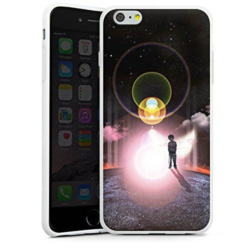 Apple iPhone X Silikon Hülle Case Schutzhülle Galaxie Wolken Kind Silikon Case weiß