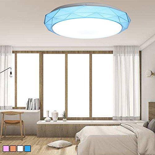 Lámpara de Techo Minimalista del Techo Accesorio LED Montaje de Techo de la Moda Para la Iluminación del Dormitorio 24W Blanco Frio Azul