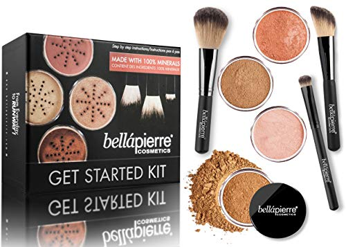 BellaPierre Get Started Foundation Makeup-Set, Deep (dunkel)