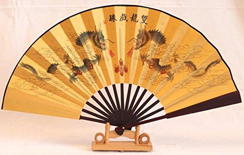 Echter chinesischer Handfächer, Nr. 011, auch sehr schön als Deko Fächer mit chinesischen (Kostüm Muster Tanz Flamenco)
