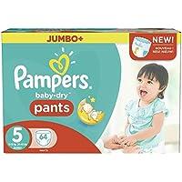Pampers Baby Dry Pants taglia 5Junior 12-18kg Jumbo Plus Pack 64Pannolini