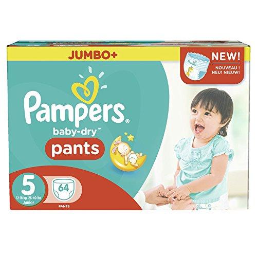 Preisvergleich Produktbild Pampers Baby Dry Pants Größe 5 Junior 12-18kg Jumbo Plus Pack 64 Windeln