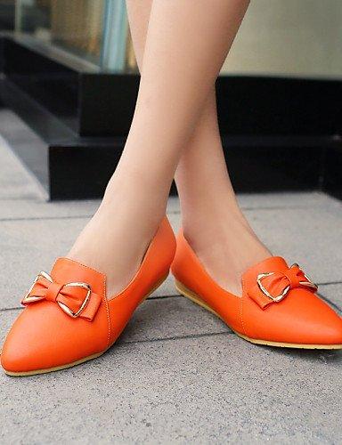 ShangYi gyht Scarpe Donna-Mocassini-Casual-A punta-Basso-Finta pelle-Nero / Blu / Beige / Arancione Black