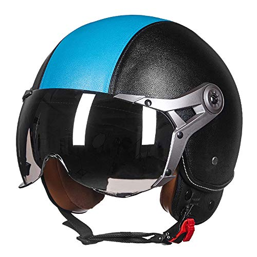 Harley Motorcycle Helmet Half Face Helmet Road Race Personality Goggles Refreshing Breathable Adult Hard Hat Car Protection Equipment Men and Women,Styled,XL(22.83