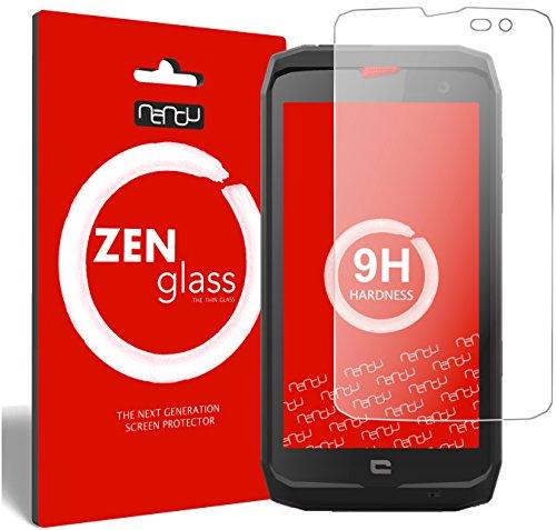 nandu I ZenGlass Flexible Glas-Folie für Crosscall Action X3 Panzerfolie I Bildschirm-Schutzfolie 9H