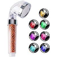 LED Duschkopf mit Farbwechsel-CNASA LED Handbrause für Spa-Duschen,7 Farben-ändernder, Wassersparend und Hochdruck