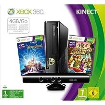 Console Xbox 360 4 Go + capteur Kinect + Disneyland Adventures (jeu Kinect) + Kinect  Adventures ! (jeu Kinect) [Importación francesa]