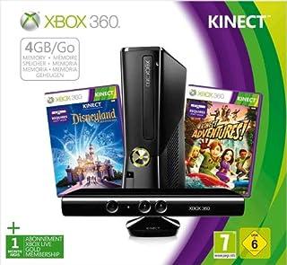 Console Xbox 360 4 Go + capteur Kinect + Disneyland Adventures (jeu Kinect) + Kinect Adventures ! (jeu Kinect) (B008IBJ982) | Amazon price tracker / tracking, Amazon price history charts, Amazon price watches, Amazon price drop alerts