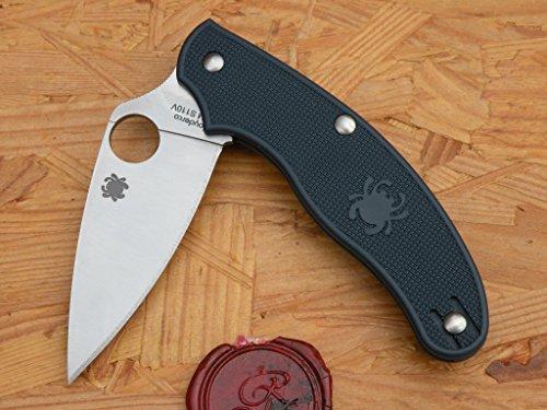 Spyderco C94PDBL UK Penknife, S110V, Dark Blue FRN (Taschenmesser Dark Blue)