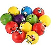 SunnydayFR 12 PCS Expression Faciale Soulagement du Stress Éponge Mousse Boules Main Force Squeeze Ball Enfants Adulte Main Exercice Jouets Balles