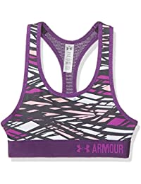 Under Armour – Sujetador de deporte, diseño de niñas, niña, Novelty Armour, Purple Rave, X-Large