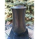 vase tombe cimetière Noir granite Noir 22cm x 12cm Vase