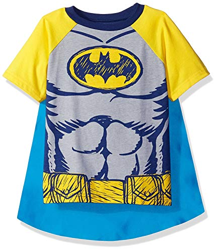 DC Comics Batman Kleinkinder Jungen T-Shirt & Cape Set, Schwarz 6 - Batman T Shirt Kostüm