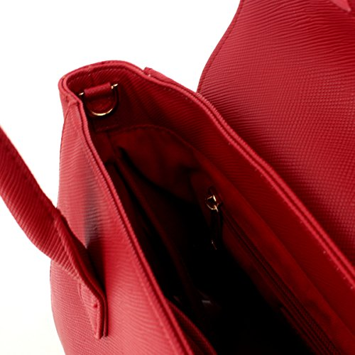 Borsa a Mano Barbara in Ecopelle Mantellata Rossa BA02-E17002 - Pomikaki RED