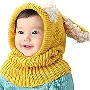UMIPUBO Bambini Scialle Cappello Autunno Berretti Inverno Maglia Sciarpa Cappelli Protezione del Bambino Orecc