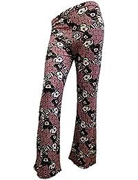 5d9e83f7a2f4 Body2Body Neuf pour Femme Imprimé Floral pour Femme Large Jambe Coupe  Stretch Palazzo Pantalon Pantalon 8