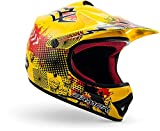 "ARMOR · AKC-49 ""Yellow"" (Gelb) · Kinder-Cross Helm · Kinder Enduro Motorrad Sport Moto-Cross Off-Road · DOT certified · Click-n-Secure™ Clip · Tragetasche · XL (59-60cm)"