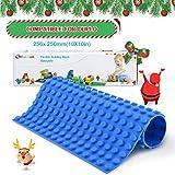 Fansteck Bauplatte aus Silicon für Duplo, Baustein Platte Flexible Bauplatte, Pädagogisches Spielzeug für Kinder, Compatibel für Lego Duplo, Mega Block, 256*250, Blau