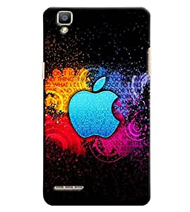 Clarks Apple Inpsired Hard Plastic Printed Back Cover/Case For Oppo F1