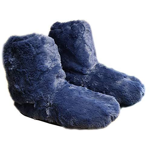 Things2KeepUWarm Snuggles Furry Microwave Slippers Size 4-7 Ladies Heated Foot Warmers