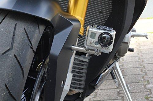 GoPro Halterung M5 für Motorrad - BMW S1000R - KTM Actioncam - Halter Edelstahl