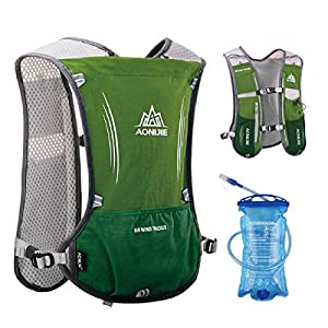 TRIWONDER Leichter Trinkrucksack mit Trinkblase, Trail Run Rucksack Trinkweste, Hydration Pack Fahrradrucksack für Marathoner, Laufen, Camping, Wandern, Joggen