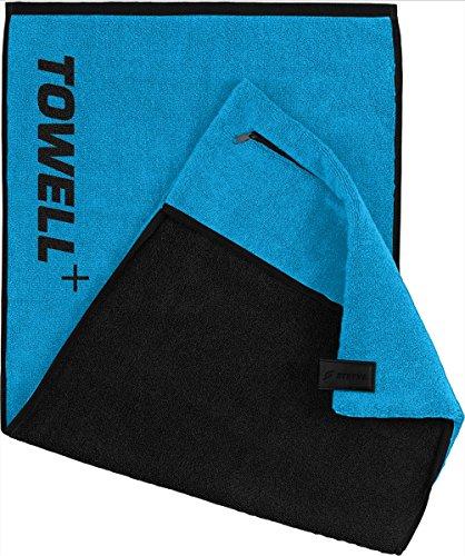 """STRYVE Towell V2 + Serviette de bain avec poche et clip magnétique, 7 couleurs, sept couleurs - connu de """"Die Höhle der Löwen"""" (néon bleu)"""