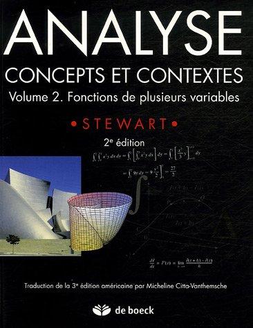 Analyse, concepts et contextes : Volume 2, Fonctions de plusieurs variables