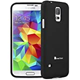 GreatShield® Samsung Galaxy S5 2014 [iSlide] Dock Friendly Slim-Fit Rubber Coating PolyCarbonate Hard Case Cover for Samsung Galaxy S5 SV 2014 (Black)
