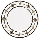 Lenox Vintage Jewel platinum-banded porcelana 5piezas del Lugar vajilla de mesa de porcelana, joya antigua (Vintage Jewel), de Lenox Accent Plate blanco