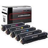 5 Logic-Seek Toner Kompatibel zu HP CF540A-CF543A für Color Laserjet Pro M254nw M254dw MFP M280nw M281fdn M281fdw - 203A