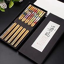 KaLaiXing® cinco pares de palillos japoneses decorado -- 5Color