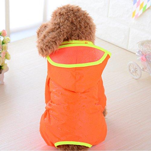 Pet Kleidung Hund Liefert Kleine Hunde Regenmäntel Drapieren Kappe Wasserdichte Kleidung Große Hunde Regenmäntel,Orange-28 -