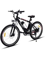 Teamyy Bicicleta de Montaña Eléctrica Rueda de 26 pulgadas 250W / 21 de velocidad Bicicleta de