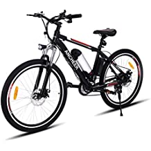 Teamyy Bicicleta de Montaña Eléctrica Rueda de 26 pulgadas 250W / 21 de velocidad Bicicleta de Aleación de Aluminio