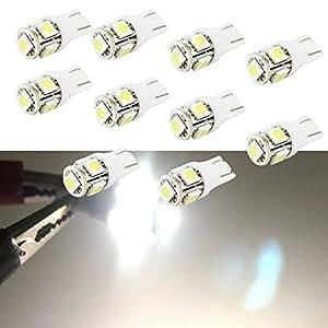 t10 lampadine posizione led bianco w5w led targa luce retromarcia luci auto interni