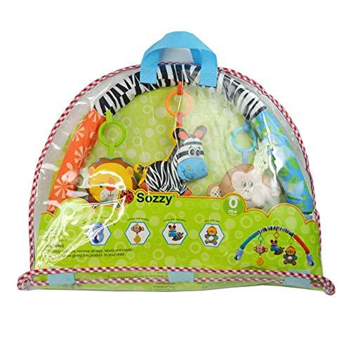 flybuild Schöne Faux Zebra Lion AFFE Kinderwagen Kinderbett hängen Rasseln Beißring Baby Spielzeug 1 -
