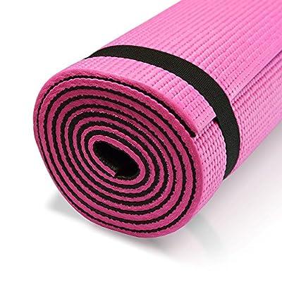 diMio 2-farbige PVC Yogamatte rutschfest mit Tragegurt Pilates Gymnastikmatte