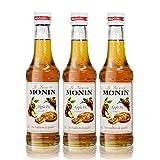 3x Monin Apple Pie Sirup, 250 ml Flasche - für Cocktails, zum Kaffee oder Kochen