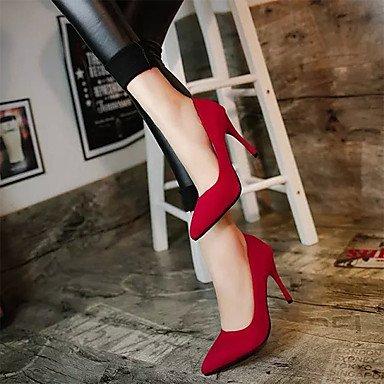 Da donna-Tacchi-Casual-Comoda-A stiletto-Cashmere-Nero Blu Rosso Red