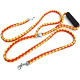 PYRUS Tangle Free Double Dog Lead 1.4m/4.6FT Length Dog Rope Dual Dog Training Cord with Coupler-strength Tested for Walking and Training 2 Dogs